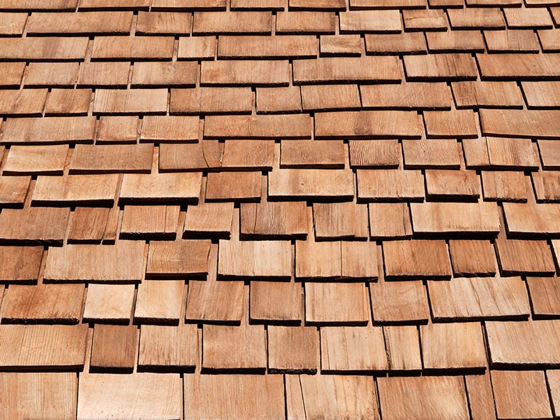 Natural Wood Shake Roofs